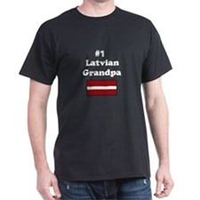 #1 Latvian Grandpa T-Shirt