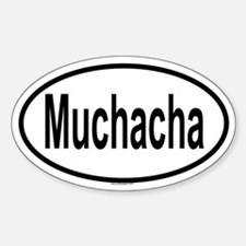 MUCHACHA Oval Decal