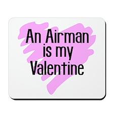 Airman Valentine Pink Scribb Mousepad