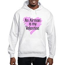 Airman Valentine Pink Scribb Hoodie