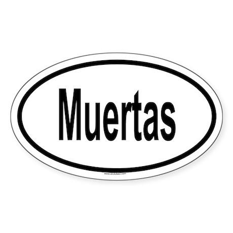 MUERTAS Oval Sticker