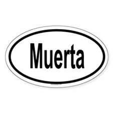 MUERTA Oval Decal
