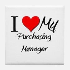 I Heart My Purchasing Manager Tile Coaster