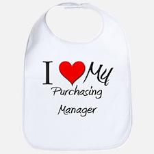 I Heart My Purchasing Manager Bib