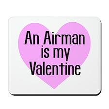 Airman Valentine Pink Mousepad