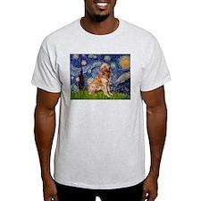 Starry Night & Golden Ash Grey T-Shirt
