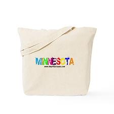 Colorful Minnesota Tote Bag