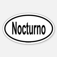 NOCTURNO Oval Decal