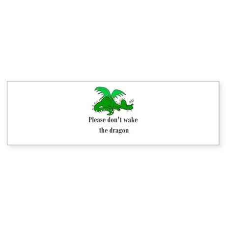 Sleeping Dragon Bumper Sticker