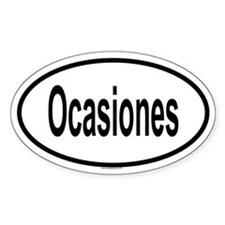 OCASIONES Oval Decal