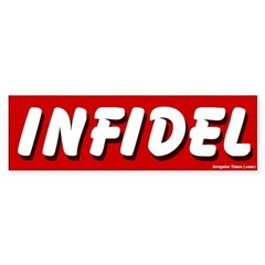 Red Infidel Bumper Bumper Sticker