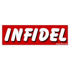 Red Infidel Bumper Bumper Sticker
