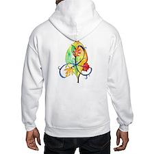 """Hooded """"Autumn Green Man"""" Adult Sweatshirt"""