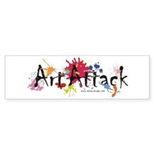 Art Attack Artist Bumper Sticker