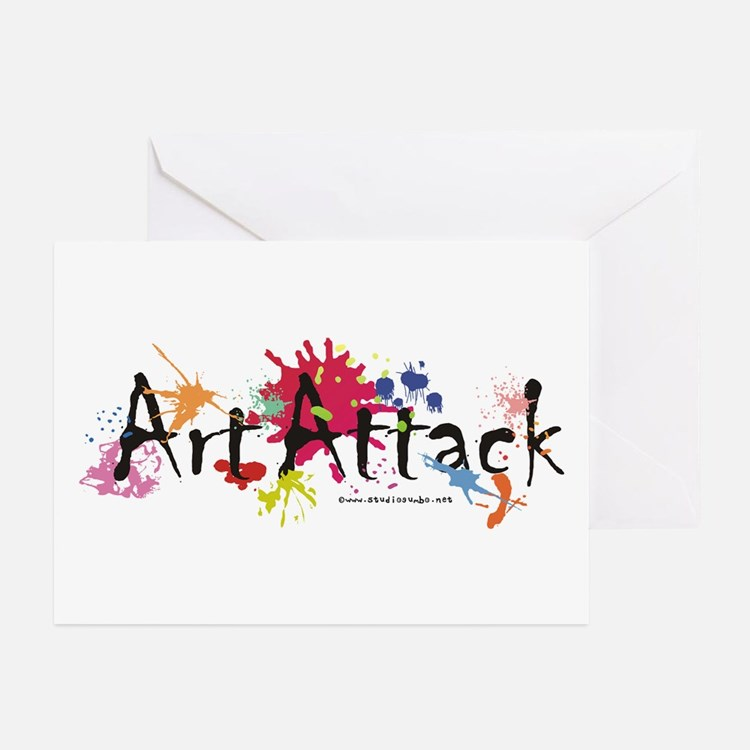 Art Attack Artist Greeting Cards (Pk of 10)
