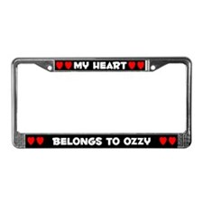My Heart: Ozzy (#001) License Plate Frame