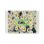 Flower Power Rectangle Magnet (10 pack)