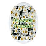 Flower Power Oval Ornament