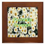 Flower Power Framed Tile