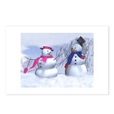 snow couple Postcards (Package of 8)