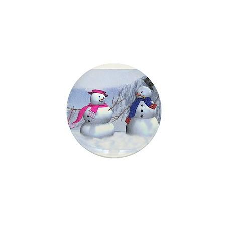 snow couple Mini Button (10 pack)