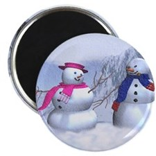 snow couple Magnet
