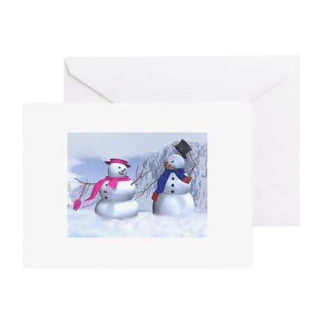 snow couple Greeting Card
