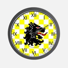 Populace Badge Two Wall Clock