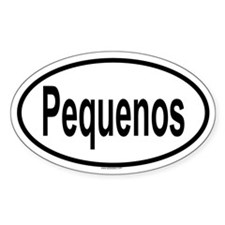 PEQUENOS Oval Decal