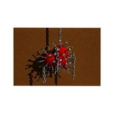 Chained Heart Rectangle Valentine Magnet