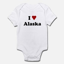 I Love Alaska Infant Bodysuit