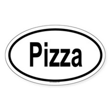 PIZZA Oval Decal