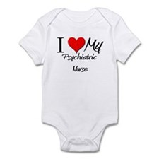 I Heart My Psychiatric Nurse Infant Bodysuit