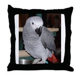 African grey parrot Throw Pillows