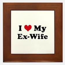 Cute Ex wife Framed Tile
