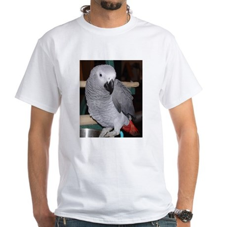 African Grey White T-Shirt