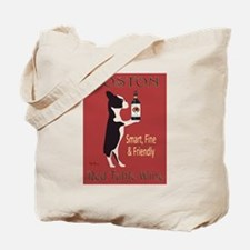 Boston Red Table Wine Tote Bag