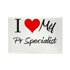 I Heart My Pr Specialist Rectangle Magnet