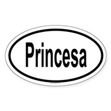 PRINCESA Oval Decal