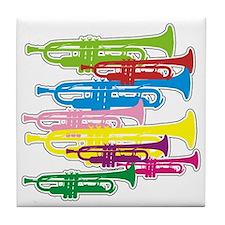 Trumpets Colors Tile Coaster