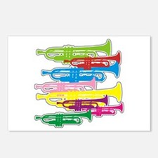 Trumpets Colors Postcards (Package of 8)