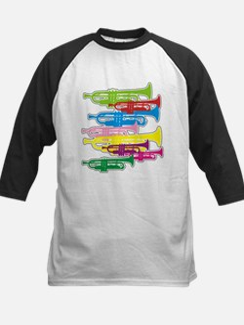 Trumpets Colors Kids Baseball Jersey
