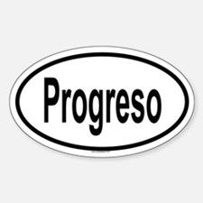 PROGRESO Oval Decal