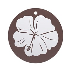 Tropical Hibiscus Flower Art Ornament (Round)