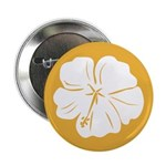 "Tropical Hibiscus Flower Art 2.25"" Button (10 pack"
