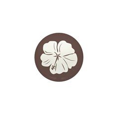 Tropical Hibiscus Flower Art Mini Button