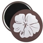Tropical Hibiscus Flower Art Magnet