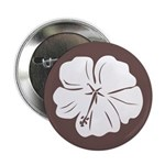 "Tropical Hibiscus Flower Art 2.25"" Button (100 pac"