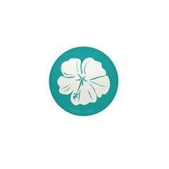 Tropical Hibiscus Flower Art Mini Button