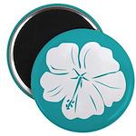 "Tropical Hibiscus Flower Art 2.25"" Magnet (10 pack"